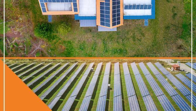 saules elektrine ant stogo ar saules elektrine saules parke VYTIS