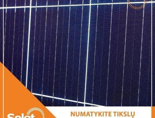 solet technics saulės modulis mėlynas
