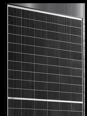 Risen RSM120-6-340 saulės baterijos skaidriame fone Solet puslapiui