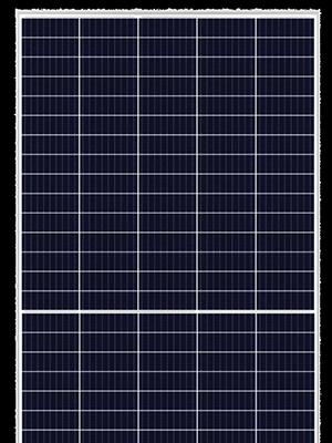 Risen RSM150-8-500 saulės moduliai skaidriame fone