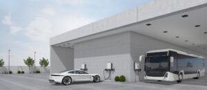 ABB Terra DC elektromobilių įkrovimo stotelė garaže