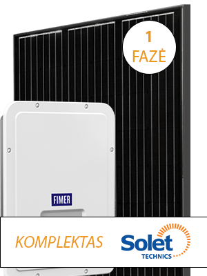 saulės elektrinės komplektas iki 3.6 kW solet technics