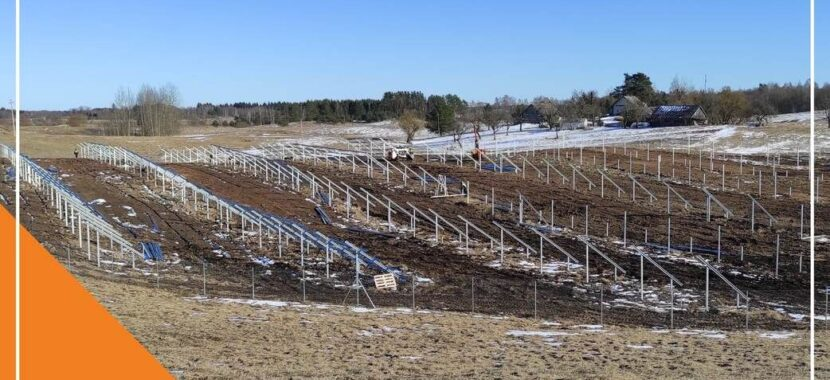 saulės parko konstrukcijos