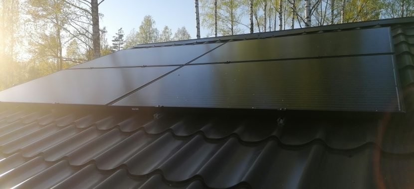 banguota skarda keturi saulės moduliai