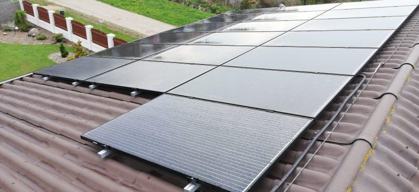 saulės elektirnės laidų nuvedimas ir įžeminimas