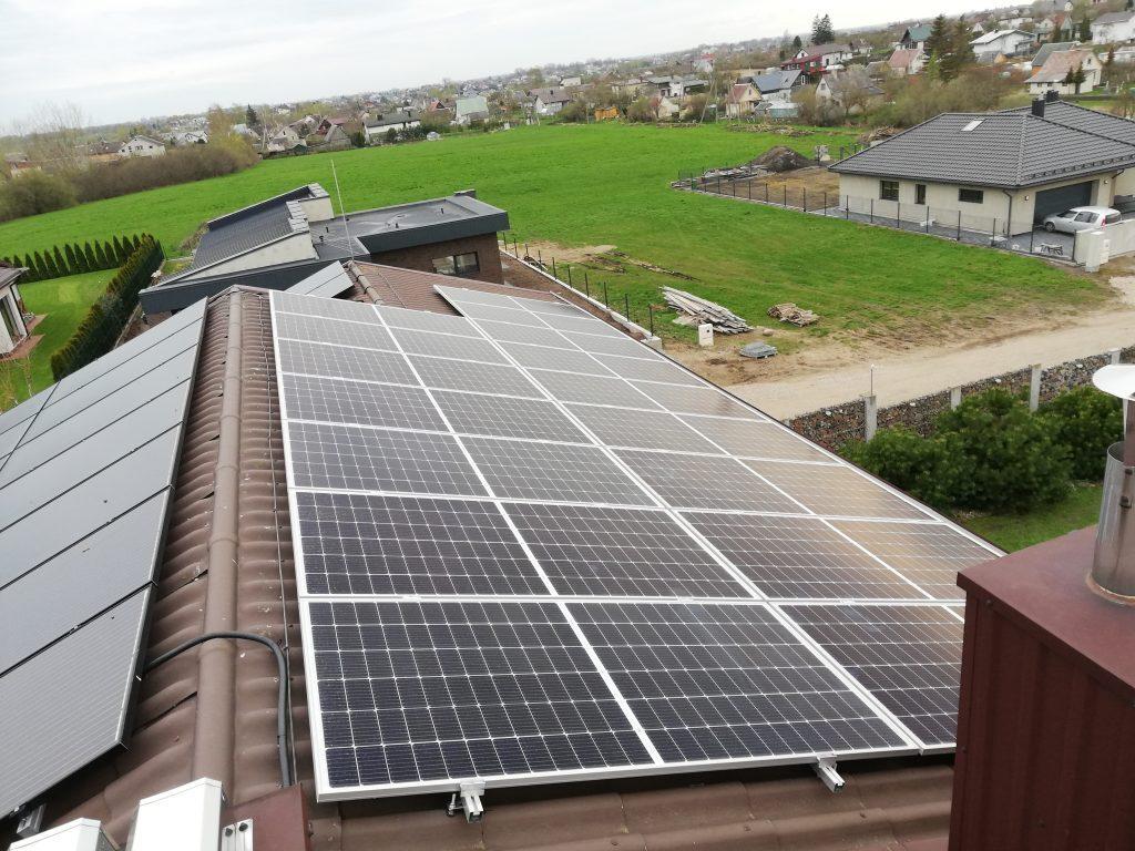 saulės elektrinė naujame name