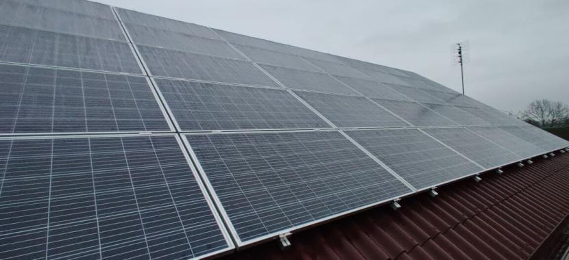 saulės moduliai ant profilių