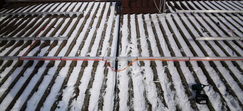 saulės baterijos bus montuojamos ant profilių žiemą