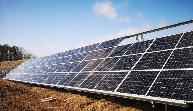 montuojami saulės moduliai