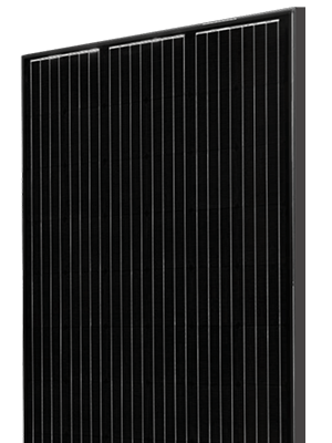 Solet Photovoltaics monokristalinis saulės modulis skaidriame fone skirtas Solet puslapiui