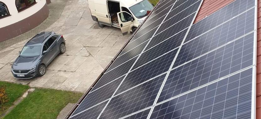 Solet Technics montavimo brigada montuoja saulės elektrinė valcuota skarda