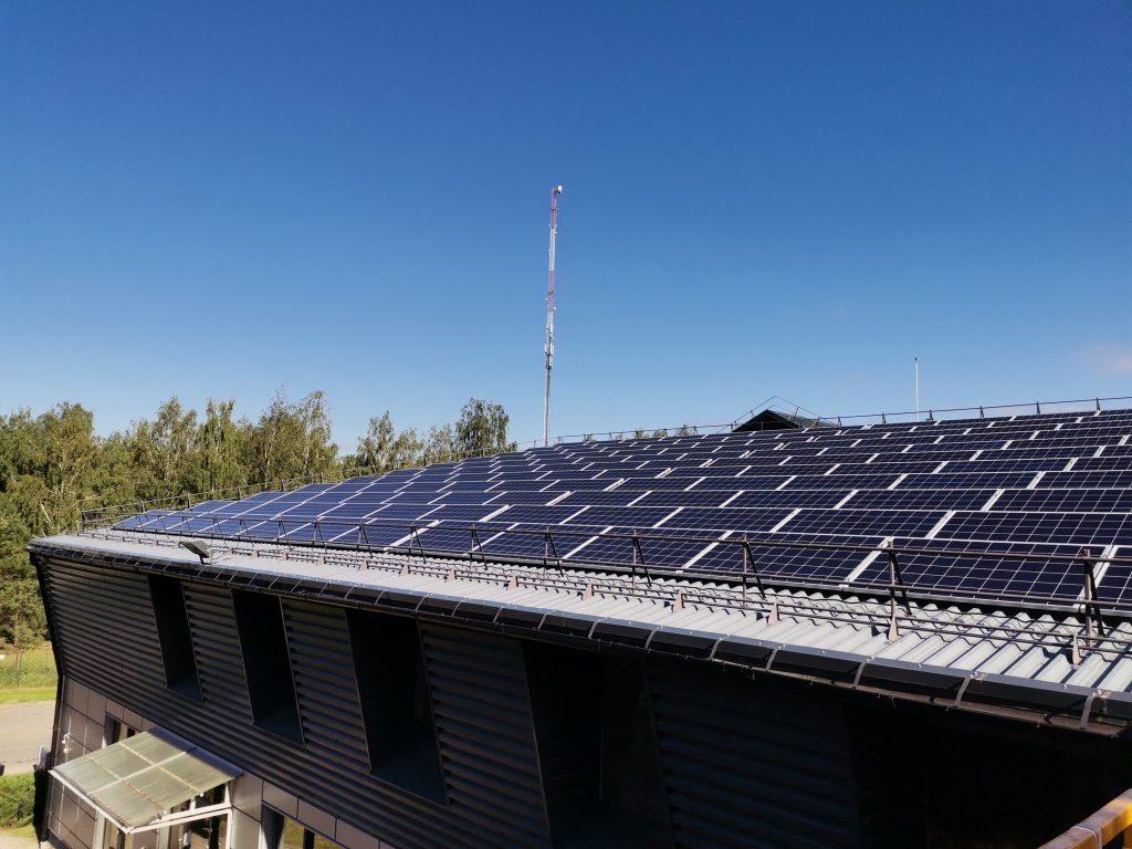 50 kWp saulės jėgainė vilniuje