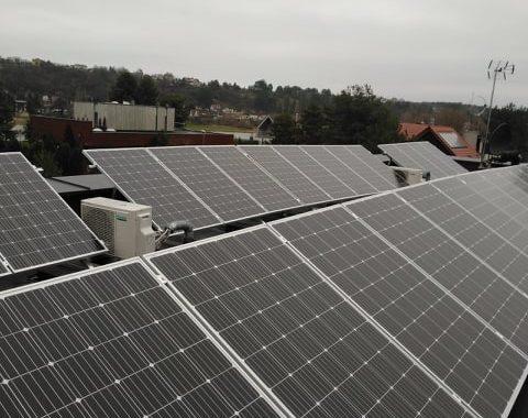 saulės elektrinė su balastine sistema