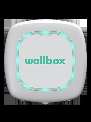 Wallbox elektromobilio įkrovimo stotelė skaidriame fone