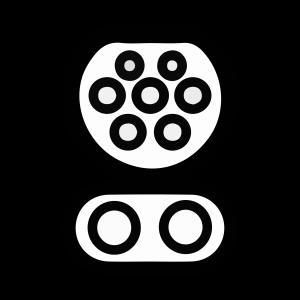 CSS Type 2 įkrovimo jungtis
