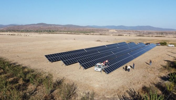 Solet Technics įrengta saulės elektrinė sakartvele