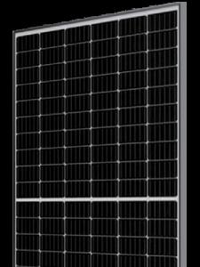 solet stiklas stiklas bifacial halfcut saules moduliai dmh3-72 skaidriame fone pritaikyta Solet puslapiui