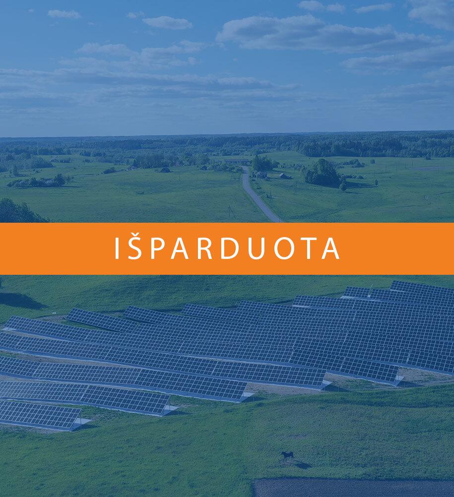 saulės parkas vytis išparduotas molėtų rajone sumontuotas saulės parkas nuotolinė saulės elektrinė Vytis